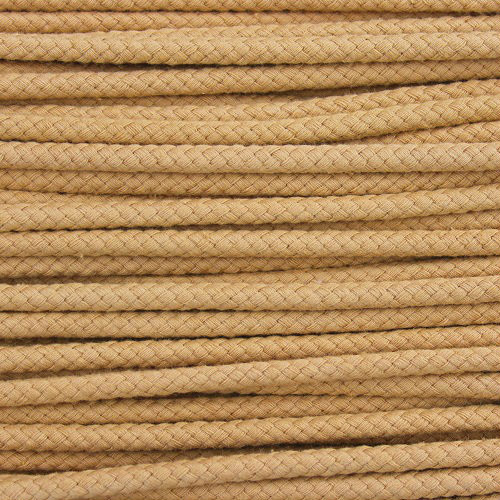 Double Woven Cotton Cord (5 mm):  Camel