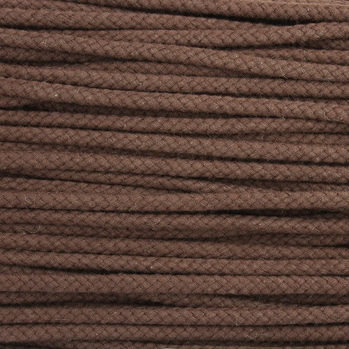 Double Woven Cotton Cord (5 mm):  Brown