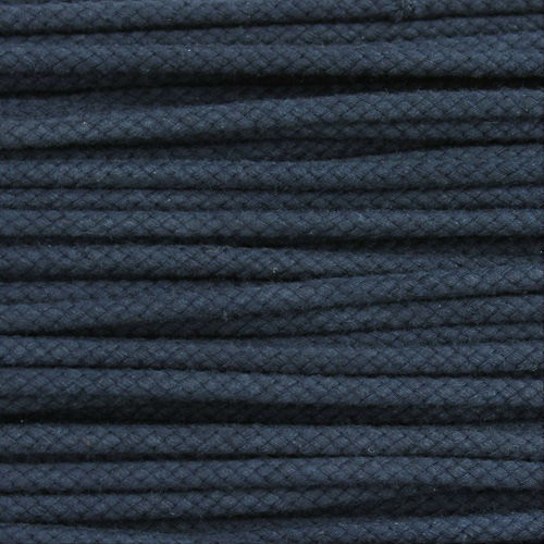 Double Woven Cotton Cord (5 mm):  Navy