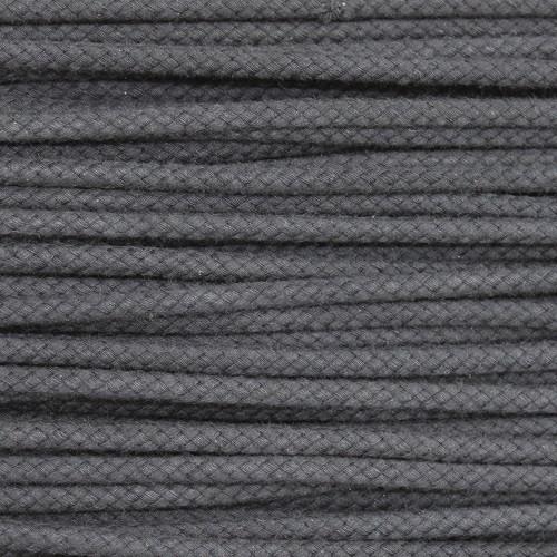 Double Woven Cotton Cord (5 mm):  Dark Grey