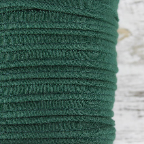 Cotton Knit Piping:  Forest Green