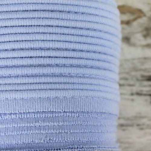 Cotton Knit Piping:  Light Blue