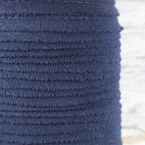 Cotton Knit Piping:  Navy