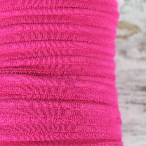Cotton Knit Piping:  Fuchsia