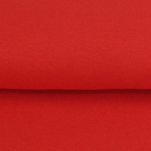 Heike: Solid Ribbing, Tomato Red