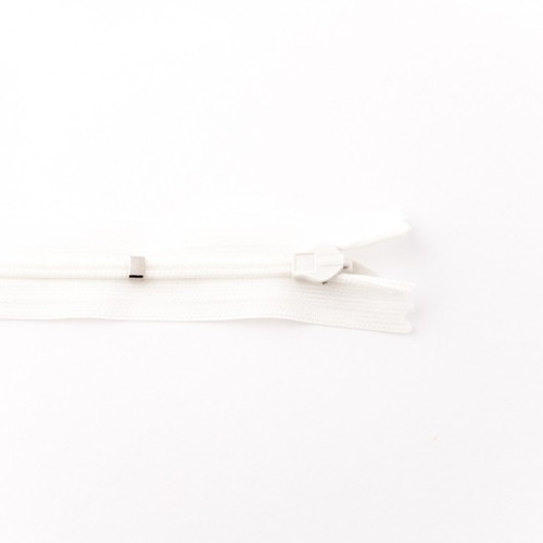 Adjustable Length Invisible Zipper: Off White (25 cm)