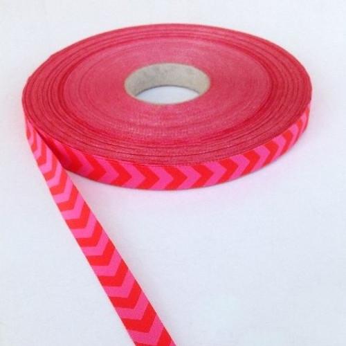 Chevron, Red & Pink:  Farbenmix Ribbon