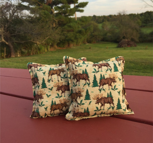 Moose and Balsam Fir Tree Balsam Small Pillow