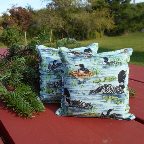 Maine Loons balsam filled pillow