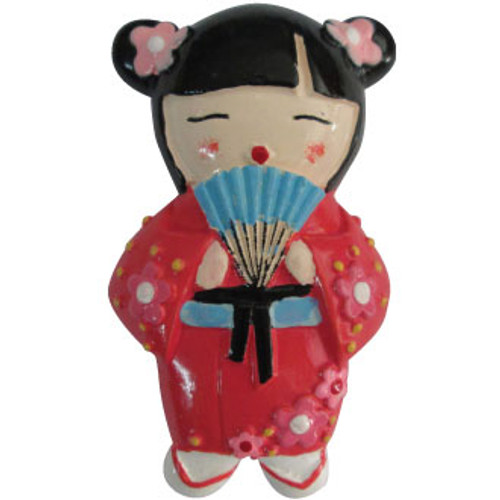 Hand Painted Cherry Doll 3d Magnet