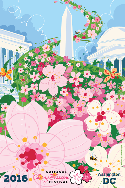 2016 National Cherry Blossom Festival Artwork Postcard