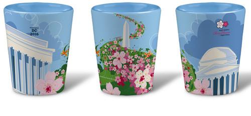 Official 2016 National Cherry Blossom Festival Ceramic Shot Glass