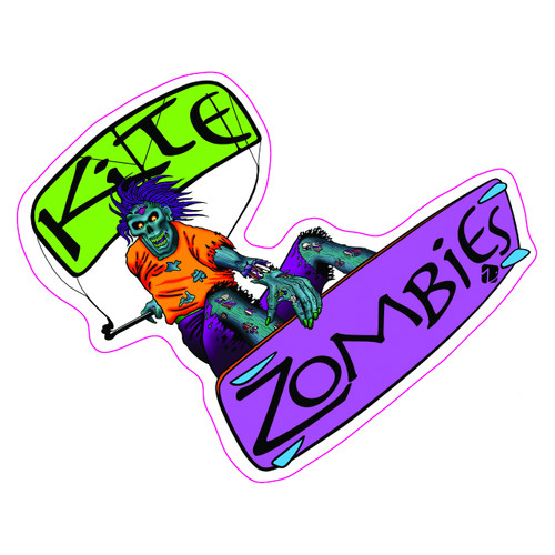 Kite Zombies Clear Sticker