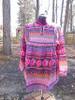 Hot Pink Indian Print Peasant top (XL)
