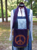 Purple Peace Messenger Bag