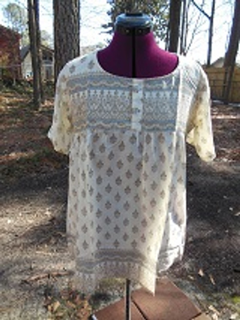 Babydoll Peasant Top (in off white)