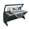 "64"" LCD Monitoring Desk Honey Maple"