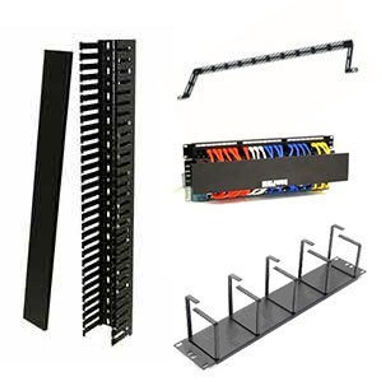 Patch Panel Cable Management Server Rack Cable Organizers