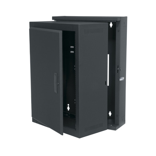 "16u 15""D Swinging Wall Mount Rack with Solid Door"