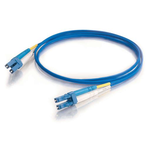 1m LC-LC 9/125 OS2 Duplex Single-Mode PVC Fiber Optic Cable - Blue