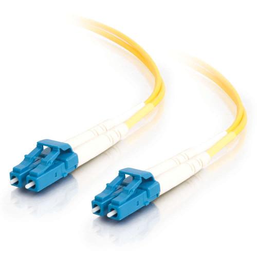 C2G-34602 | 3m LC-LC 9/125 OS2 Duplex Single-Mode Fiber Optic Cable - Low Smoke Zero Halogen LSZH - Yellow