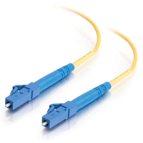 9m LC-LC 9/125 OS2 Simplex Single-Mode Fiber Optic Cable - Low Smoke Zero Halogen LSZH - Yellow