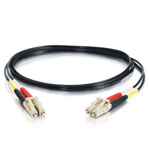 1m LC-LC 62.5/125 OM1 Duplex Multimode PVC Fiber Optic Cable - Black