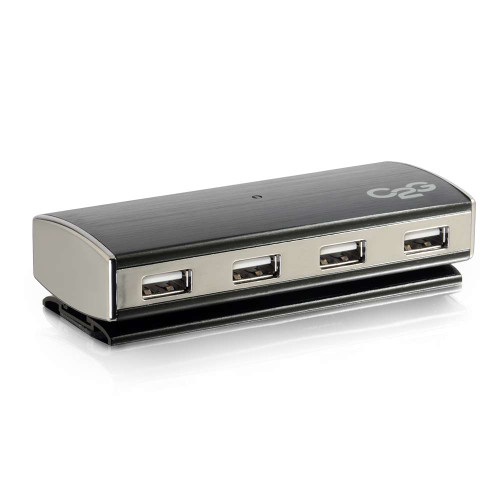 4-Port USB 2.0 Aluminum Hub for Chromebooks, Laptops, and Desktops