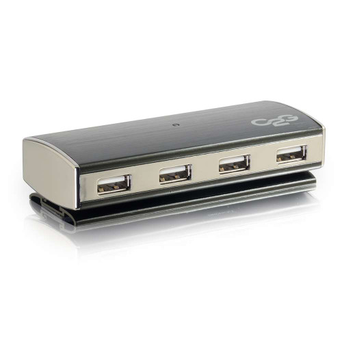 C2G-29509 | 7-Port USB 2.0 Aluminum Hub for Chromebooks, Laptops, and Desktops