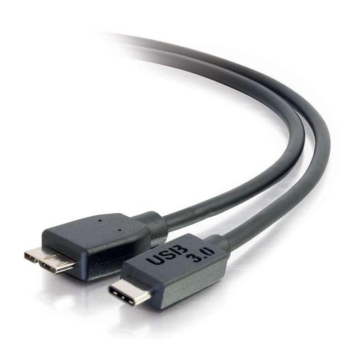 C2G-28864 | 10ft USB 3.0  USB-C to USB Micro-B Cable M/M - Black