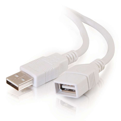 C2G-19003 | 1m USB 2.0 A Male to A Female Extension Cable - White