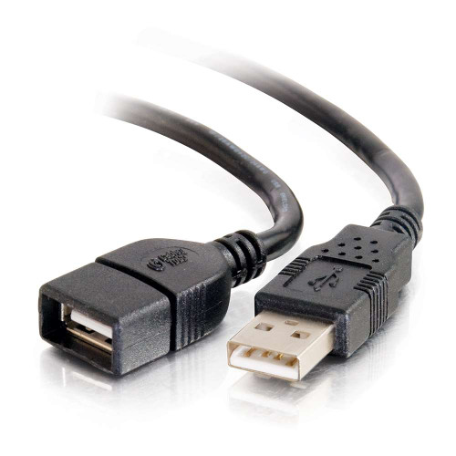 3m USB 2.0 A Male to A Female Extension Cable - Black