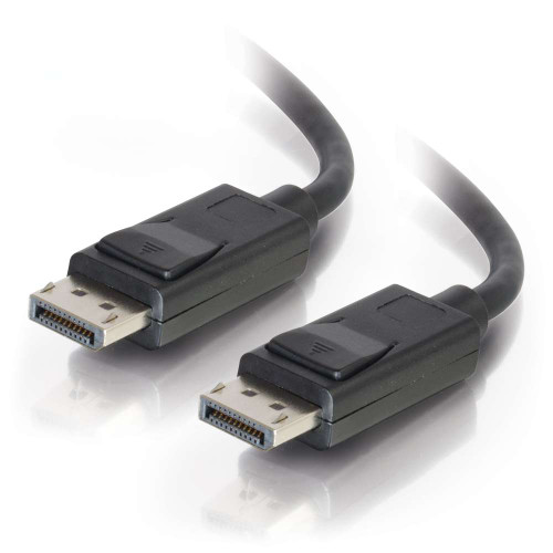 C2G-54403 | 15ft DisplayPort Cable with Latches M/M - Black