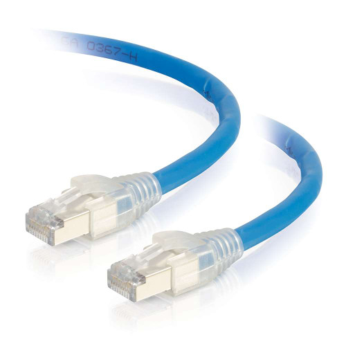 C2G-43172 | 50ft HDBaseT Certified Cat6a Cable with Discontinuous Shielding -  Plenum CMP-Rated - Blue