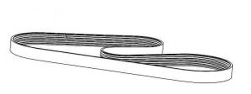 Hydrostatic Drive Input Belt - 8 RIB 1690