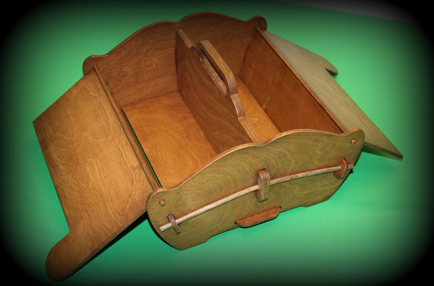 From an age old time tested design, this carry-all caddy has served our own Mom well for over 50 years! Dad made her one for a sewing box when we were just kids! Her was painted white, and has endured to today so that we could adopt the design and offer it to you for any number of purposes!