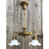 L17231 - Antique Brass Colonial Revival Two Light Fixture
