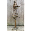 L14212A - Antique Arts and Crafts Cast Brass Smoker's Reading Floor Lamp