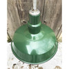 L18049 - Antique Industrial Green Enameled Pendant Hanging Fixture