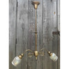 L18106 - Antique Late Victorian Two Arm Early Electric Hanging Fixture