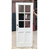 "D18128 - Antique Revival Period Painted Pine Exterior Door with Glass 30""x 79-1/4"""