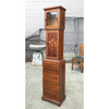 F18103 - Vintage Woodworkers Walnut Inlaid Whimsy Clock Cabinet