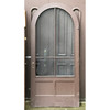 """D18165 - Antique Revival Period Pine Exterior Arched Door in Jamb with Screen 42"""" x 89-3/4"""""""