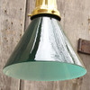 605430 - Antique Neoclassical Ceiling Light Fixture with Green Cased Glass Shade