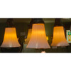 608607 - Antique Four Light Ceiling Fixture with Art Glass Shades