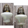 608613 - Pair of Antique Beaux Arts Wall Sconces with Loetz Shades