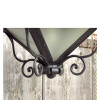L15250 - Antique Colonial Revival Style Wrought Iron Lantern Fixture