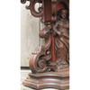 F15098 - Antique Tudor Gothic Walnut and Marble Side Table
