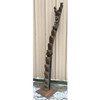 A16095 - Vintage Carved African Tribal Art Granary Ladder