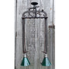 L17002 - Custom Hay Bale Hook Two Light Hanging Fixture